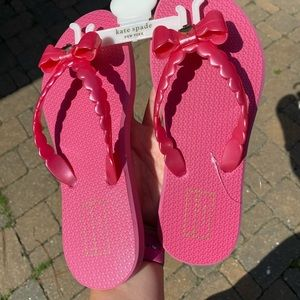 NWT Kate Spade pink Flop Flops